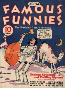 Famous Funnies (1934 series) #54, Fine- (Stock photo)