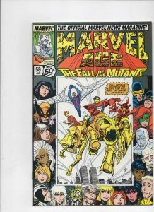 MARVEL AGE #58, NM-, Fall of the Mutants, 1985 1988 more Marvel in store