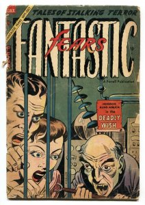 Fantastic Fears #9 1954 Forced meat feeding-Woman burned alive! Witches!