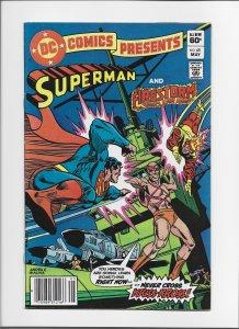 DC Comics Presents #45 VF Newsstand Edition! Superman & Firestorm!  JW121