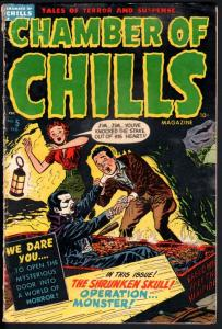 CAHMBER OF CHILLS #5-ACID IN THE FACE-VAMPIRE-DECAPITATION-WILD-PRE-CODE HORROR