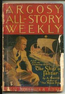 Argosy All-Story Weekly 11/8/1924-Ship of Ishtar by A. Merritt-Early sci-fi...