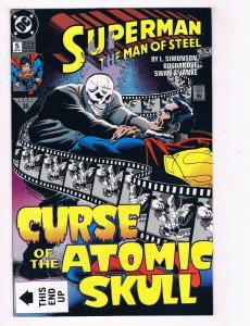 Superman The Man Of Steel #5 FN/VF DC Comic Book Simonson JLA Nov 91 DE39 AD12