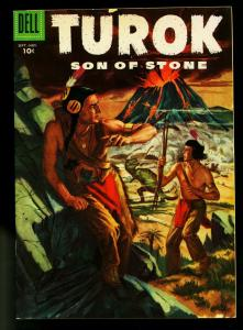 Turok Son of Stone #5 1956- Dell Comics- Indians & Dinosaurs- VG