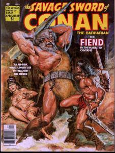 Savage Sword of Conan # 28- Early Conan Magazine - 8.0 or Better