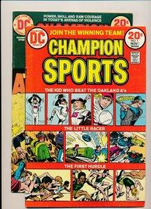DC Set of 2-CHAMPION SPORTS #1 & #2 1973  FINE  (PF895)