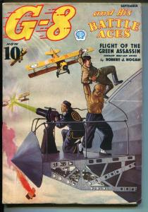 G-8 and His Battle Aces 9/1937-Popular-Chu Lung-aviation menace-assassin-FN+