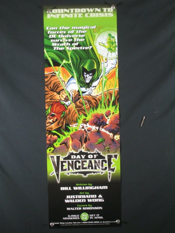 Day Of Vengeance DC Comics Promo Poster 2005 34x11