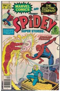 SPIDEY SUPER STORIES  20 VG-F Dec. 1976