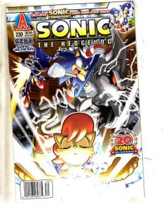 Sonic # 230 VF Archie Comic Book Hedgehog Knuckles Spaz Cover Art J321