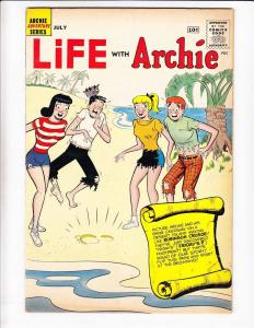 Life With Archie #3 VG+ july 1960 - shipwreck cover a la robinson crusoe