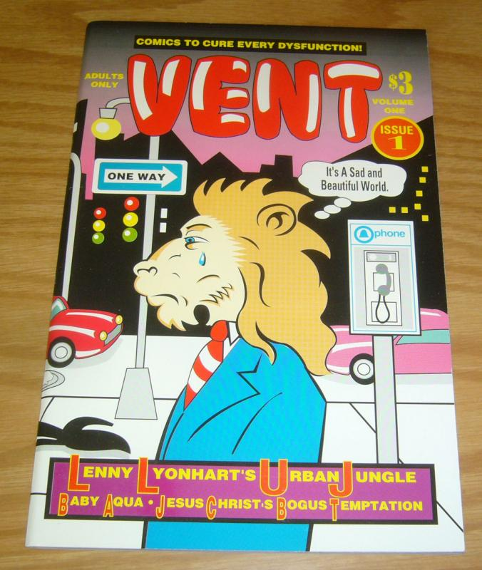Vent #1 VF/NM comics to cure every dysfunction - lenny lyonhart's urban jugnel