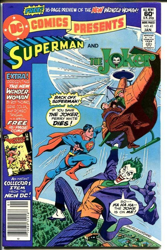 DC COMICS PRESENTS #41-SUPERMAN/JOKER-HIGH GRADE VF/NM
