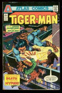 TIGER-MAN #3 1975-DEATH OF HYPNOS-ATLAS COMICS-DITKO FN