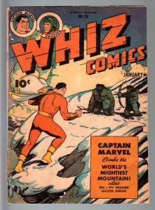 WHIZ COMICS #70-1946-CAPTAIN MARVEL-SPY SMASHER-GOLDEN AGE-VG minus VG-