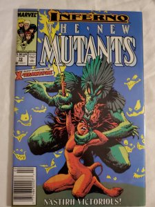 New Mutants 72 Very Fine+ Cover art by Bret Blevins