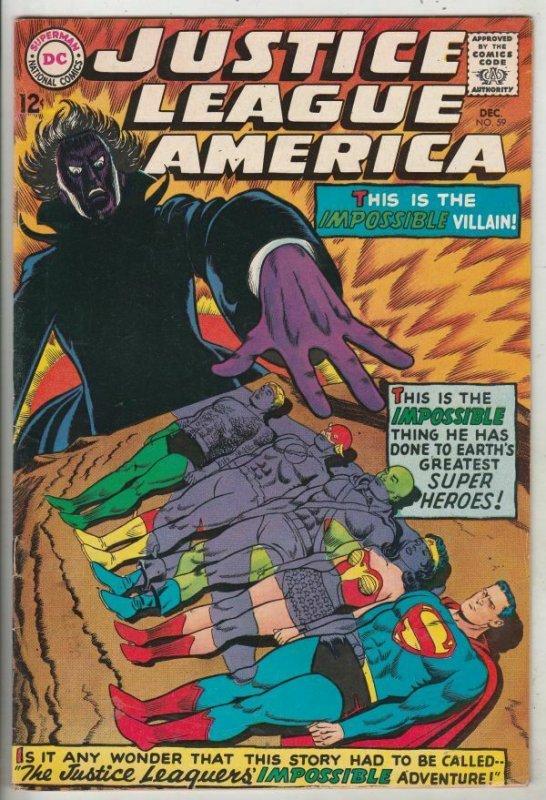Justice League of America #59 (Dec-67) VF/NM High-Grade Justice League of Ame...