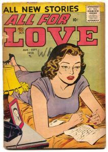 All For Love Vol 2 #3 1958- Romance comic F/G