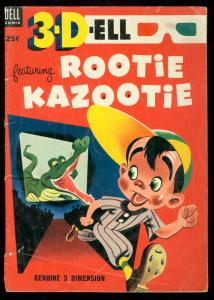 3-DELL #1 1953- DELL COMICS-ROOTIE KAZOOTIE-GATOR COVER VG