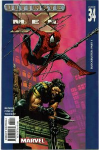 Ultimate X-Men #34 Brian Bendis Spider-Man Weapon X NM