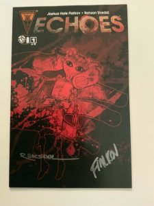ECHOES 1-5 SET OF FIVE COVERS SIGNED BY JOSHUA FIALKOV & RAHSAN EKEDAL.