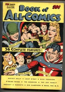 Book of All Comics 1945-Super scarce FOX giant comic book-Green Mask-Puppeteer