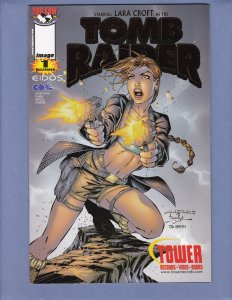 Tomb Raider #1 NM- Tower Records Gold Variant Cover Top Cow 1999