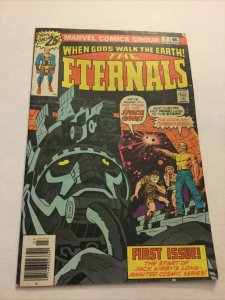 Eternals 1 Fn- Fine- 5.5 Newsstand Edition Marvel Comics
