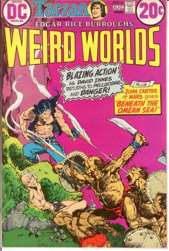 WEIRD WORLDS 6 VF-NM Aug. 1973 John Carter