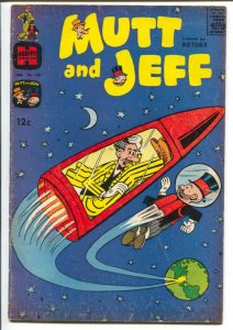 Mutt & Jeff  #139 1960-Harvey-possibly the only sci-fi cover of series-G/VG