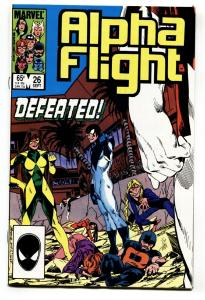 ALPHA FLIGHT #26 comic book-MARVEL COMICS-MUTANTS! NM