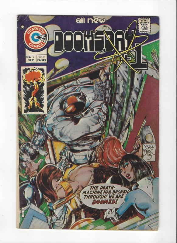 Doomsday +1 #2 (SEP 75} John Byrne Art VF