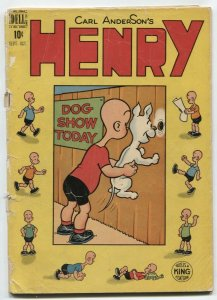 Henry Comics #9 1949- Dog Show gag cover- FR
