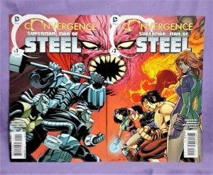DC Convergence SUPERMAN MAN OF STEEL #1 - 2 Simonson Brigman (DC, 2015)!