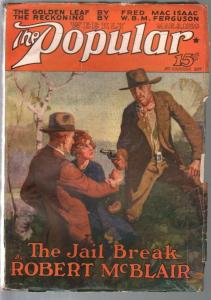 Popular 2/3/1928-Jerome Rozencover-adventure & mystery pulp-VG