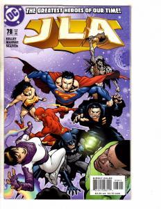 Lot Of 10 JLA DC Comic Books # 78 79 80 81 82 83 84 85 86 87 Batman Flash J261