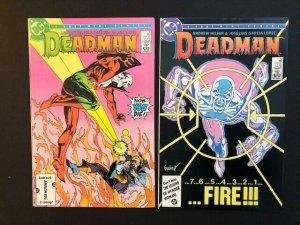 LOT of2-DC DEADMAN 4 Part Mini-Series #2 & #4 1985 2nd series VF (A188)