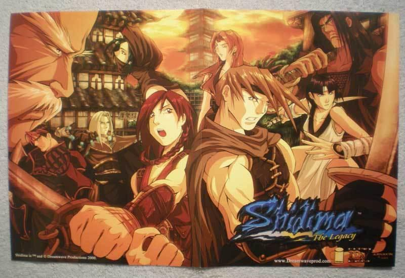 SHIDIMA THE LEGACY Promo Poster, 17x11, 2000, Unused, more Promos in store