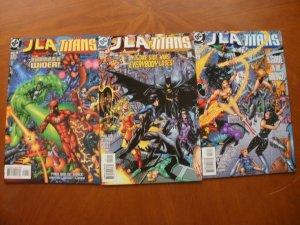 3 Near-Mint DC JLA / THE TITANS Comic #1 2 3 (1998 1999) Grayson Complete Set