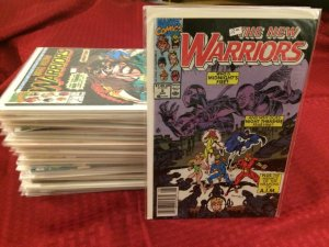 The New Warriors HUGE LOT 65 Comics All Bagged and Boarded Marvel