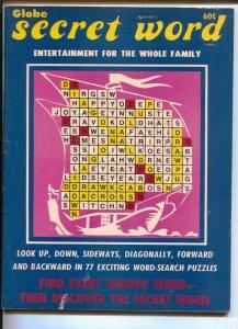 Globe Secret Word #1 4/1973-1st issue-vintage word games-VG