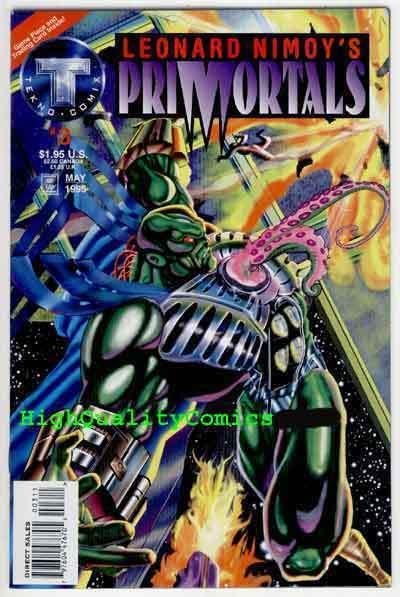 PRIMORTALS #3, NM+, Isaac Asimov, LEONARD NIMOY, 1995, more Indies in store