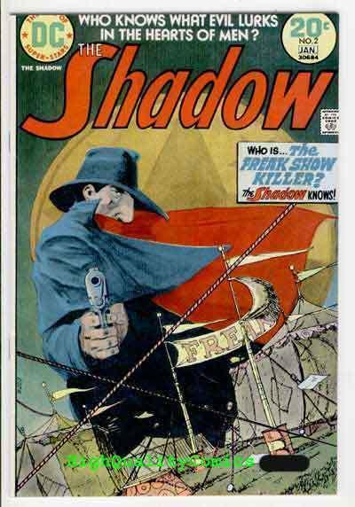 SHADOW 2,  NM-, Micheal Kaluta, Who knows what Evil, Freak Show, 1973