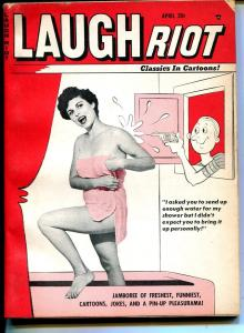 Laugh Riot 4/1963-Timely-cheesecake-Ward-Wenzel-Don DeCarlo-VG+