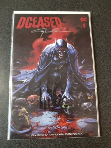 DCEASED  #1 Scorpion Comics Variant signed by Clayton Crain W/COA