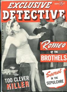 EXCLUSIVE DETECTIVE #1 SEPT 1942-PULP-LURID-SOUTHERN STATES PEDIGREE-vf