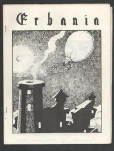 Erbania #12 1962-Edgar Rice Burroughs & Tarzan Fanzine-Cover art by Jim Cawth...