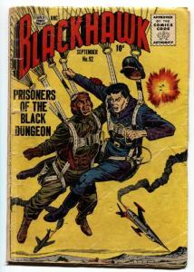 BLACKHAWK  #92-1955-Quality Golden-Age Comic-Skydiving