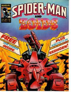 Spider-Man and Zoids UK Comics Magazine Vol. 2 No. 6 12th April 1986