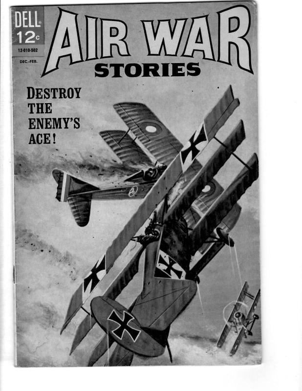 Air War Stories # 2 FN/VF 1965 Dell Silver Age Comic BOok Painted Cover JL17